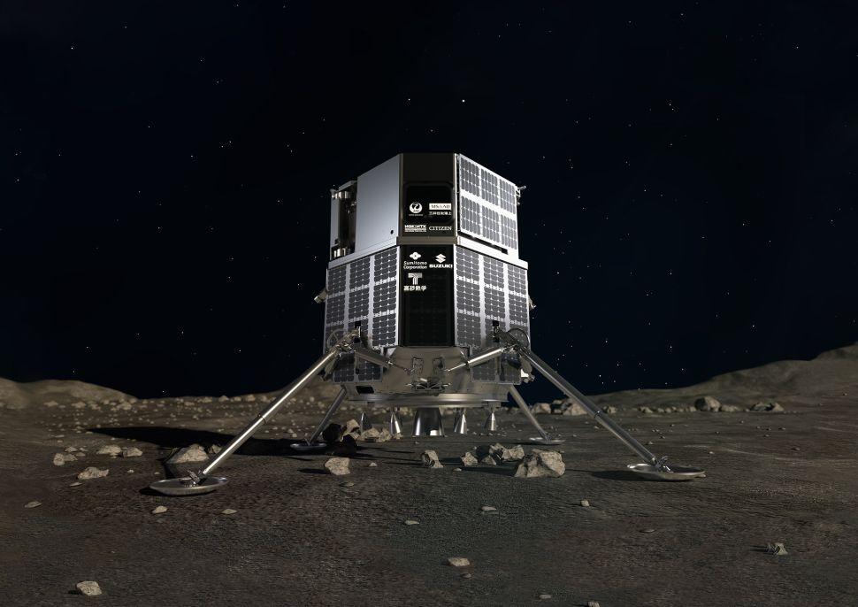 Le module d'atterrissage lunaire HAKUTO-R, qui stockera le rover japonais lors de son voyage en 2022