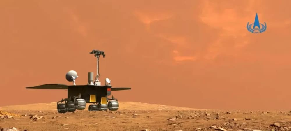 Illustration du rover chinois Zhurong sur Mars