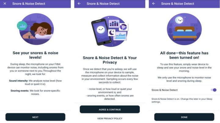 FitBit: Détecteur de ronflement et de bruit ambiant du futur
