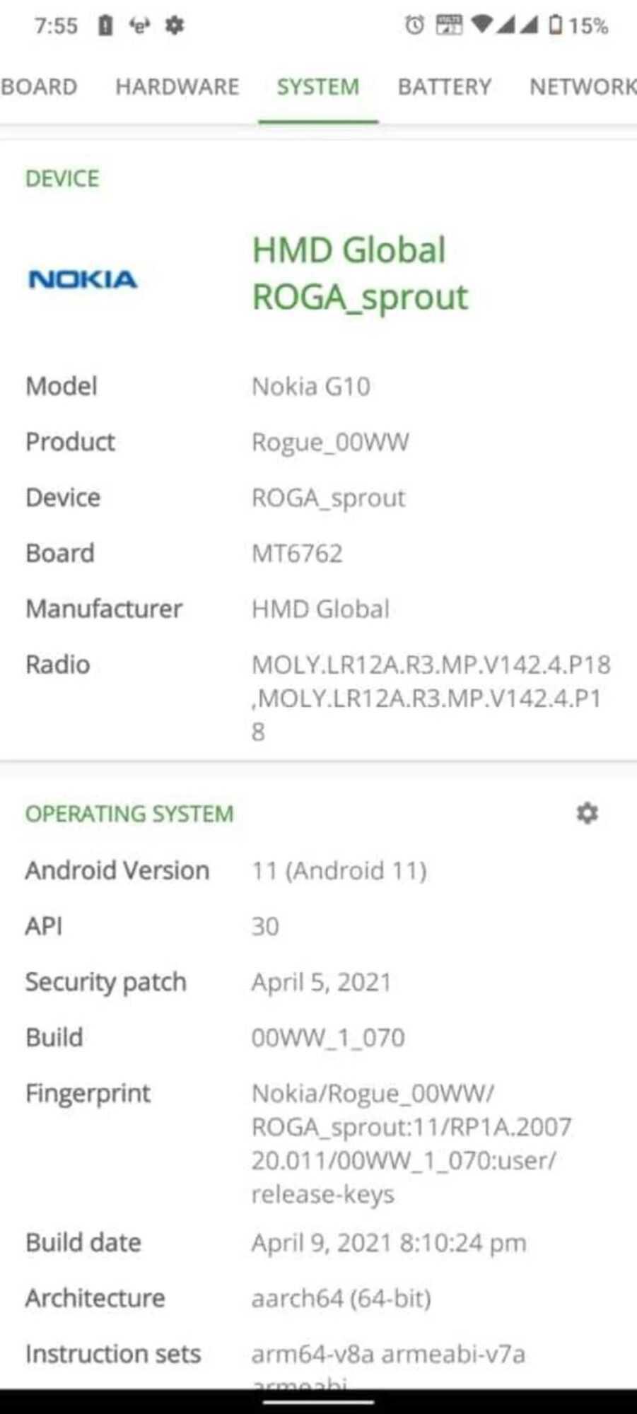 Nokia G10 Rogue