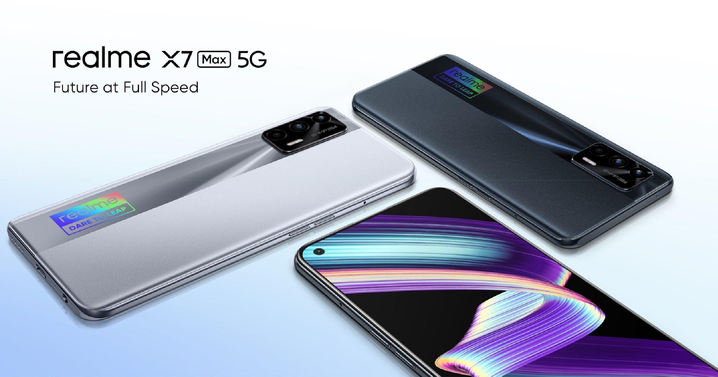 realme X7 Max 5G dans toutes ses couleurs