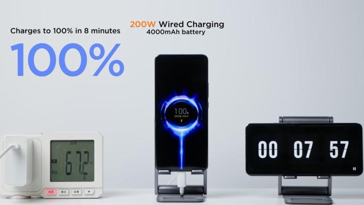 Xiaomi présente son `` hypercharge '' allant jusqu'à 200W