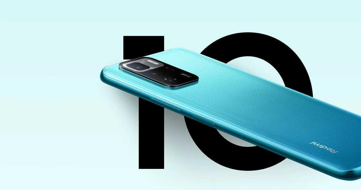 Dos Bleu Du Redmi Note 10 Pro