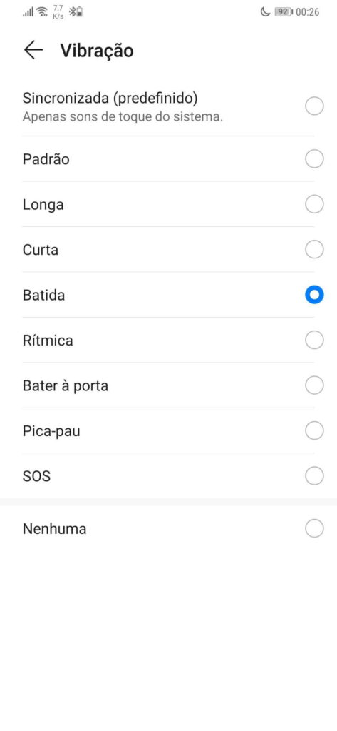 notifications son vibration smartphone android
