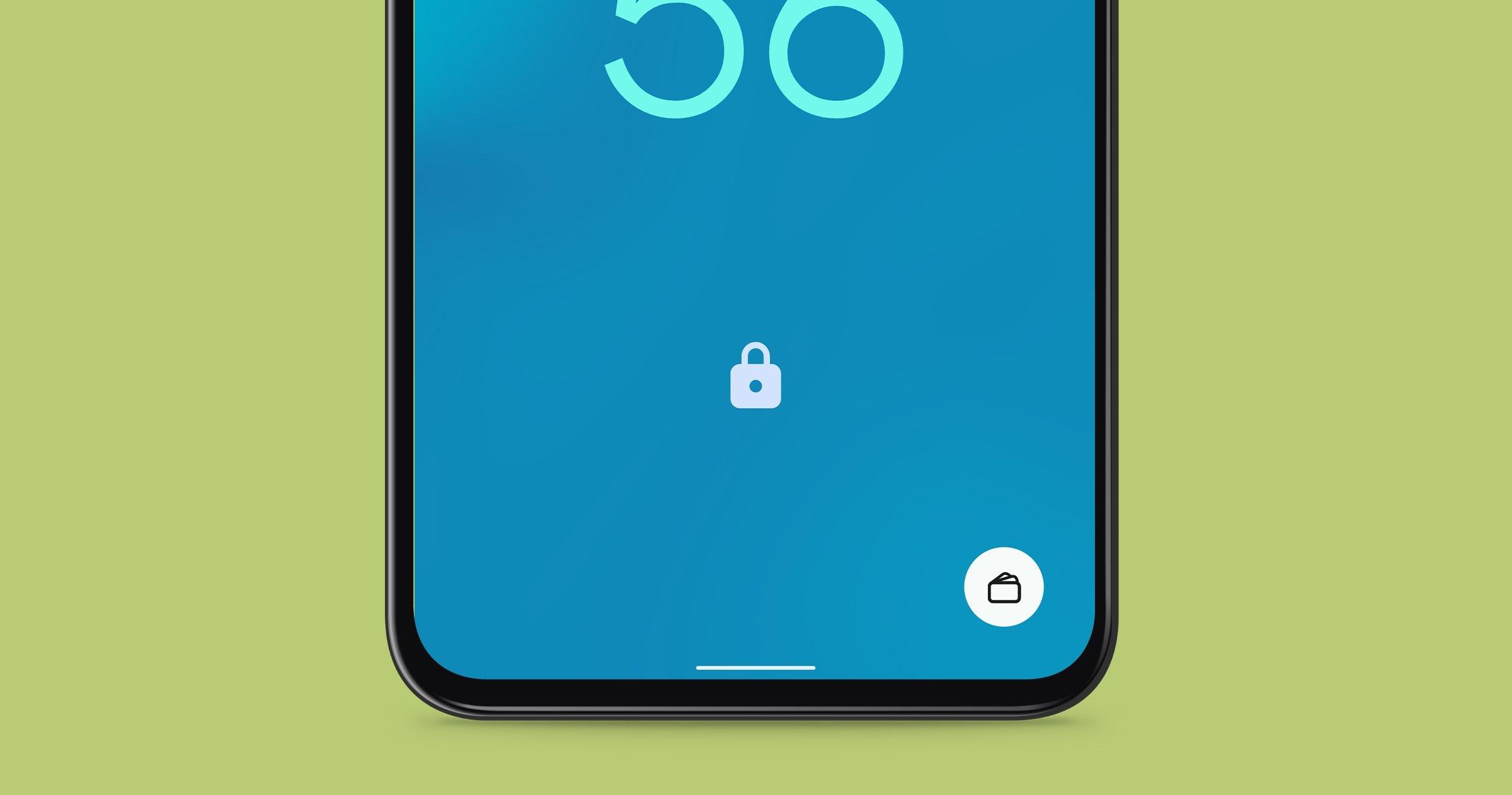 Accéder à Google Pay depuis l'écran de verrouillage d'Android 12