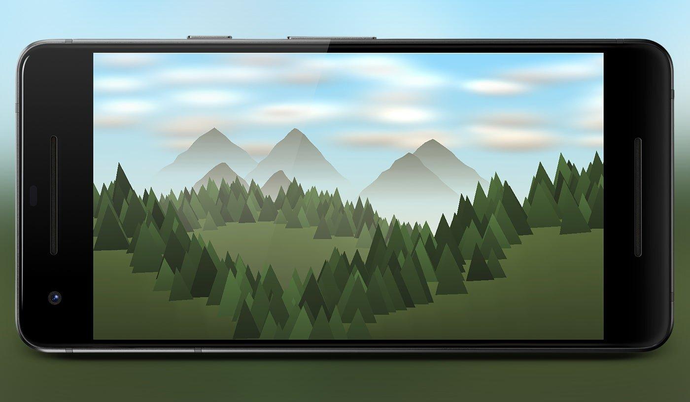 Forêt Live Wallpaper, fond d'écran animé pour Android