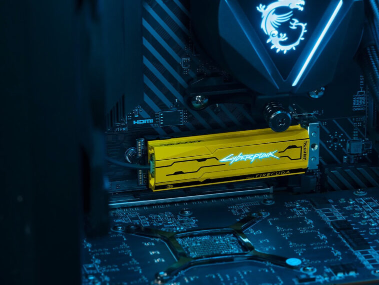 Seagate shows off limited edition Cyberpunk 2077-themed SSD