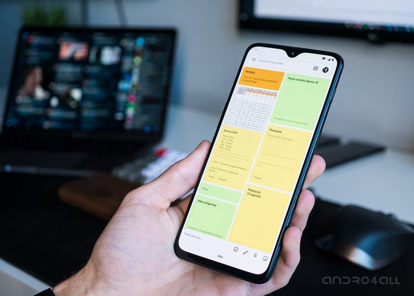 Google Keep sur Android et autres applications de productivité