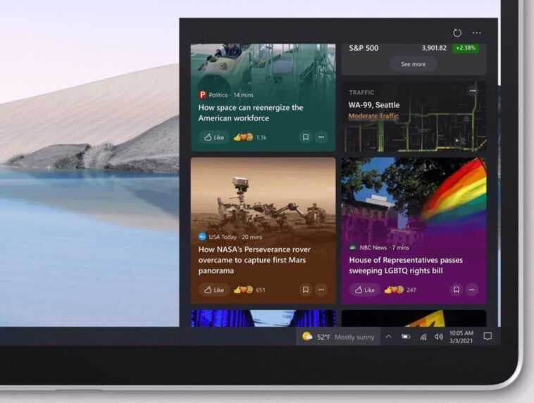 Microsoft will fix the blurry text on its recently added News and interests button