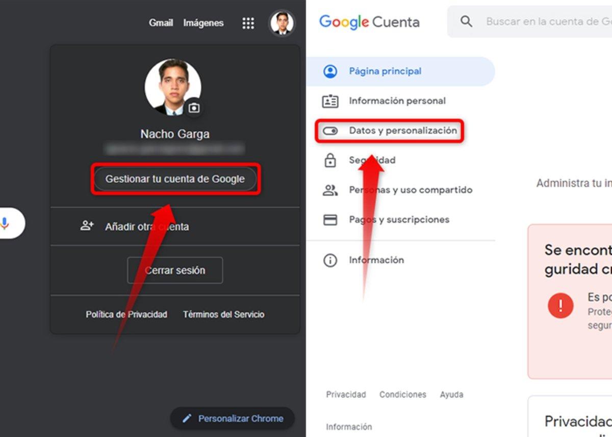 Étapes pour annuler un compte Gmail ou Google