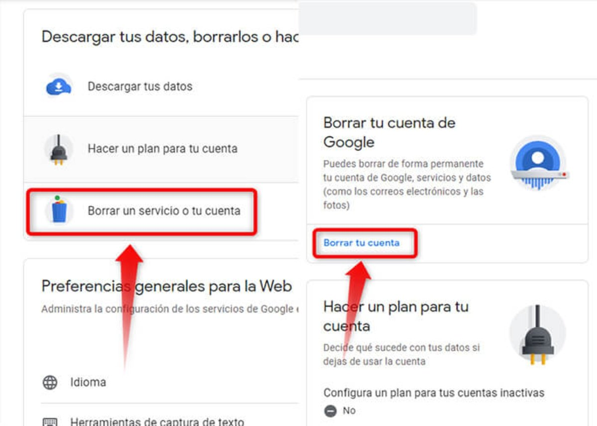 2 étapes pour annuler un compte Gmail ou Google