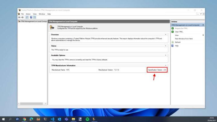 Démarrage sécurisé des exigences Microsoft TPM de Windows 11