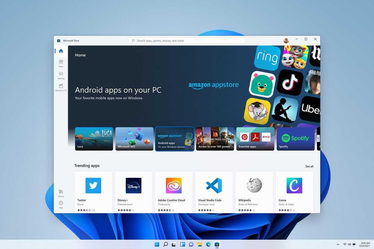 Captures D'écran Filtrées Des Applications Android Fonctionnant Sous Windows 11