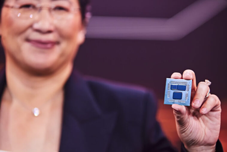 AMD shows off stacked 3D V-Cache chiplets, resulting in up to 192MB of L3 cache