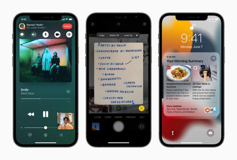 Apple cest nouveau dans iOS 15 iPadOS 15 macOS