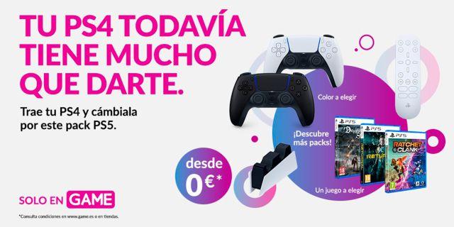 Apportez votre PS4 à GAME et échangez-la contre de nouveaux packs PS5 avec des jeux et des accessoires