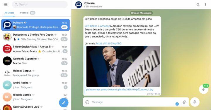 Avez-vous essayé la nouvelle version de Telegram via le Web ?