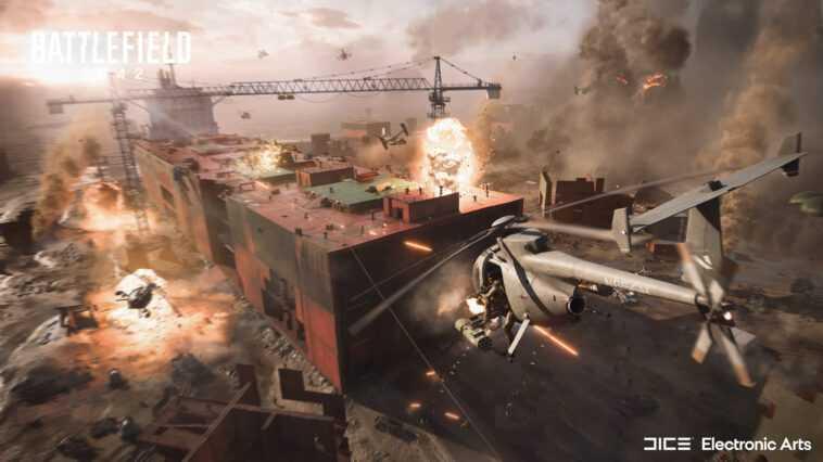 Battlefield 2042 : un jeu de tir multijoueur futuriste avec météo en temps réel, wingsuits et jusqu'à 128 joueurs par match