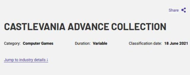 Castlevania Advance Collection Konami Smon Belmont Dracula PC PS5 Xbox Series X   S Nintendo Switch