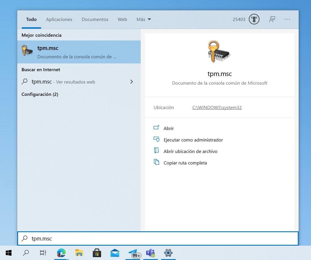 Finden Sie tpm.msc von Windows 10