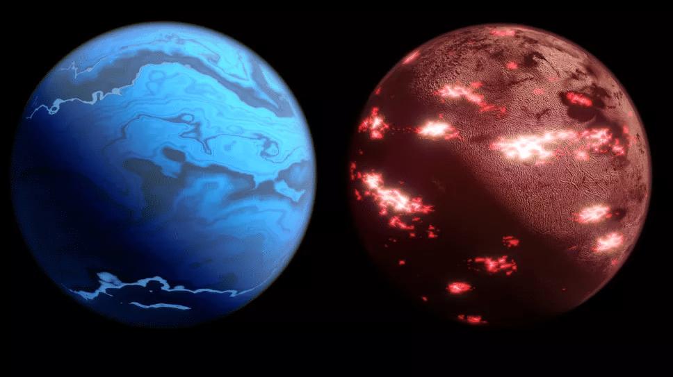 Exemples de dessin d'exoplanètes à observer par la mission Twinkle