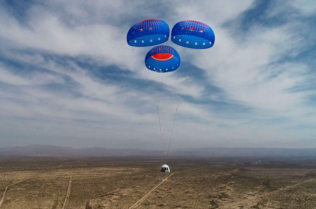 Le premier siege de vol spatial de Blue Origin se