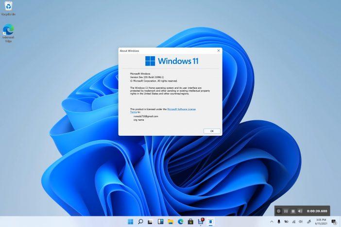 Version divulguée de Windows 11