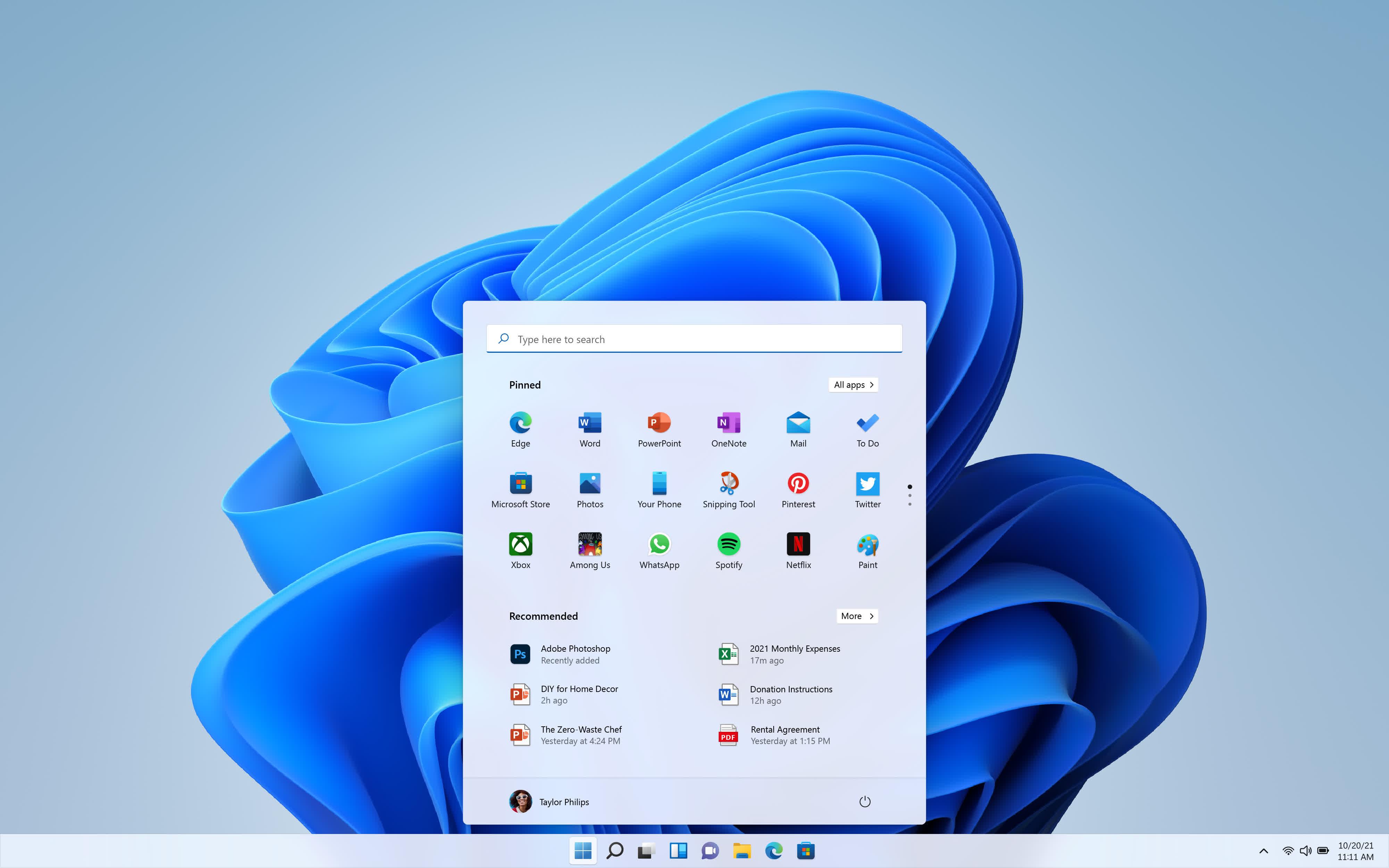 Microsoft annonce Windows 11 avec une interface utilisateur un menu