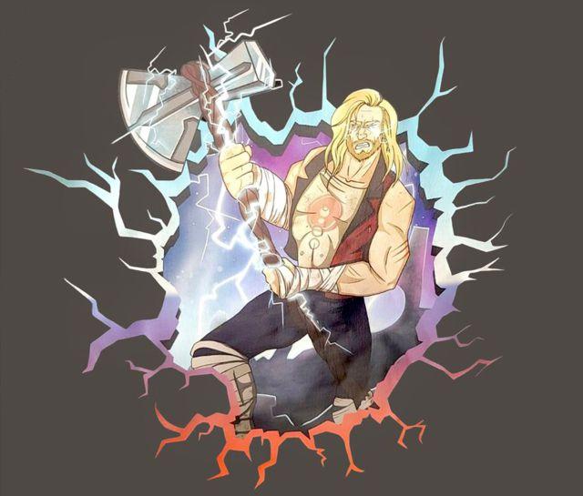 Nouveau regard sur Thor et Star-Lord dans Thor 4 avec un nouvel art du film