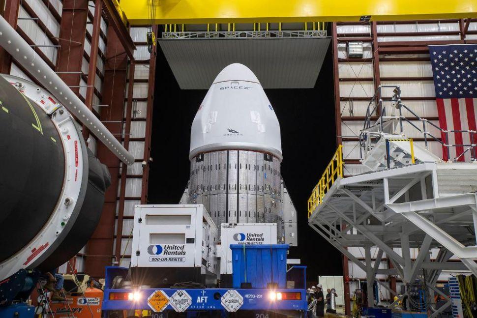Navire cargo SpaceX Dragon utilisé dans la mission de ravitaillement CRS-22.  Crédits : SpaceX