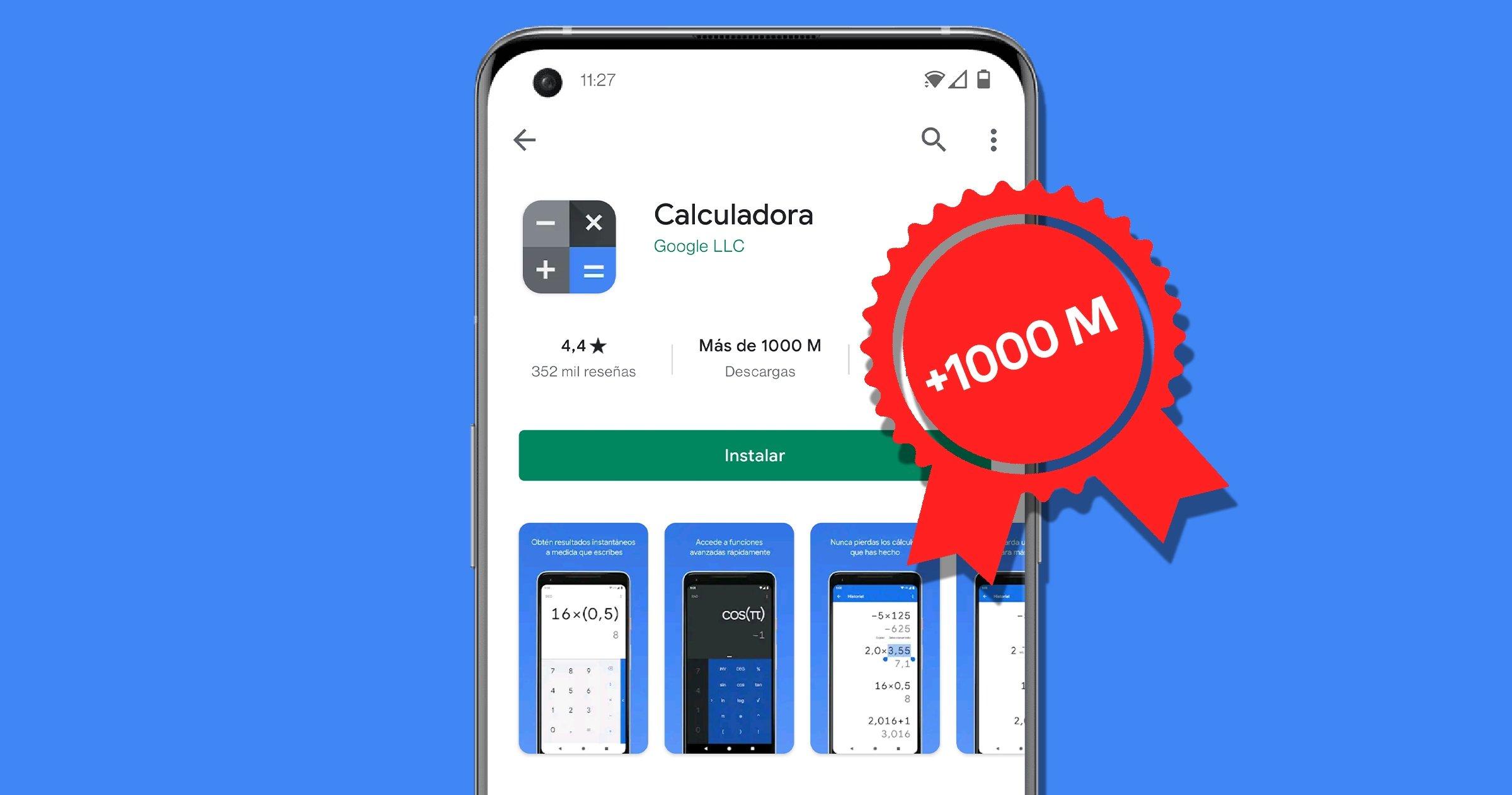 Application de calculatrice Google avec plus d'un milliard de téléchargements