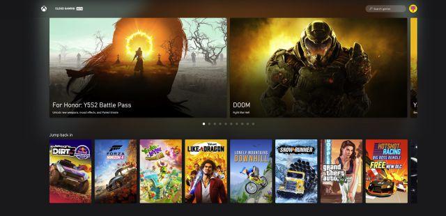 Jeux en nuage Xbox