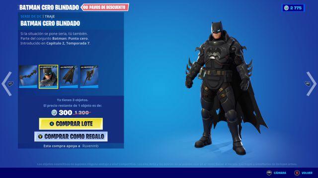 fortnite chapitre 2 saison 7 skin batman zero armored dc comics comment l'obtenir