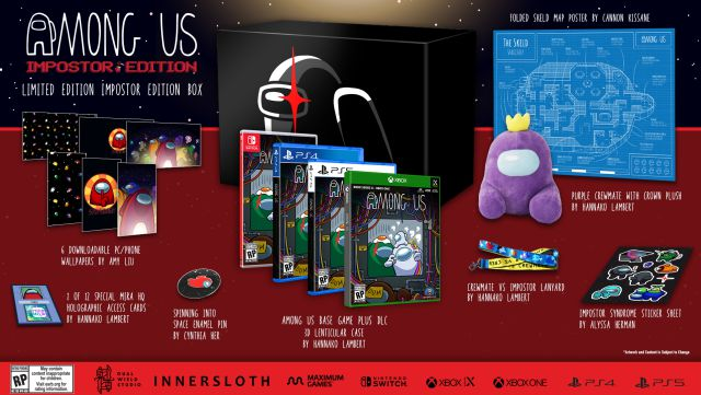 Among Us présente trois éditions physiques chargées d'extras pour PS4, PS5, Xbox et Switch