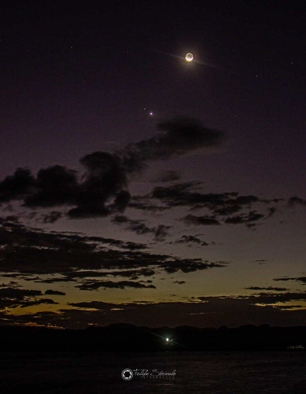1626187867 258 Les internautes enregistrent le spectacle de la conjonction entre Venus