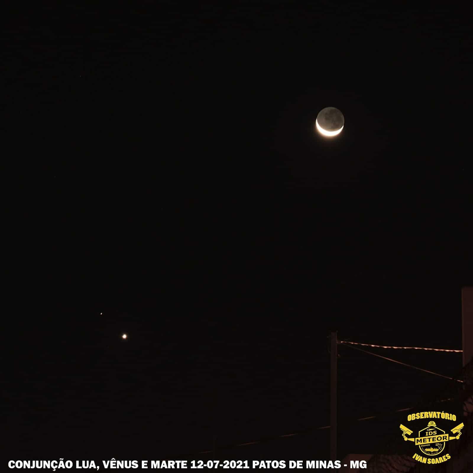 1626187867 952 Les internautes enregistrent le spectacle de la conjonction entre Venus