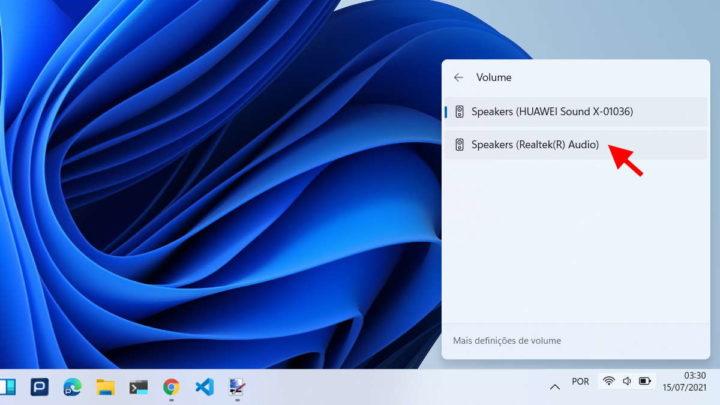 Système de changement de périphérique audio Windows 11