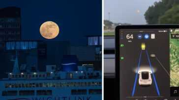 Le Pilote Automatique Tesla Prend La Lune Pour Une Lumière