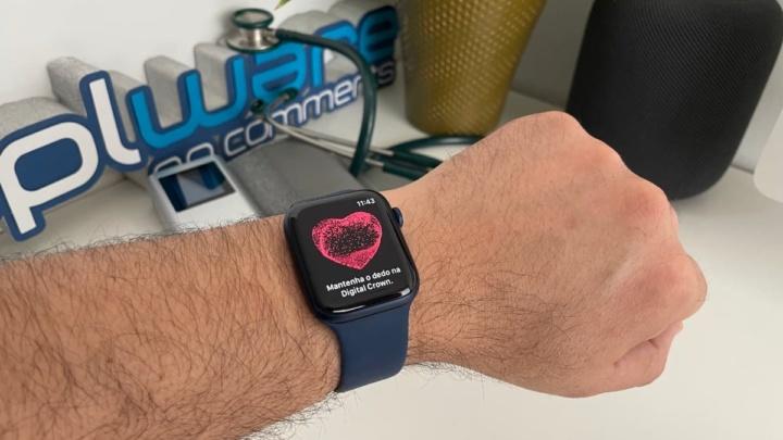 Image Apple Watch pour mesurer la tension artérielle