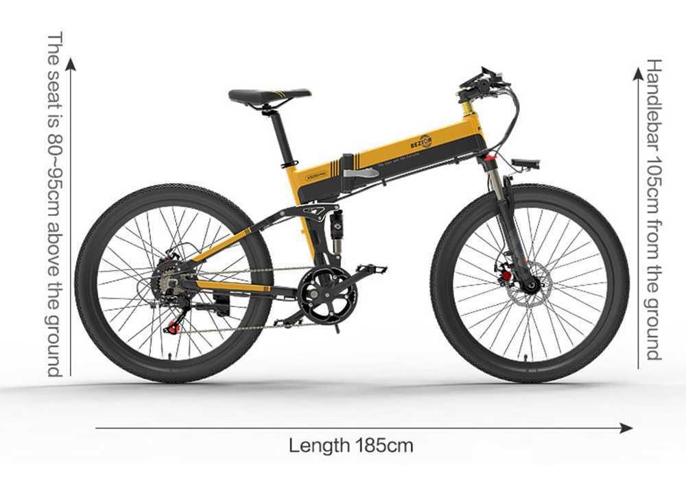 Bezior X500 Pro Deplie Dimension Taille