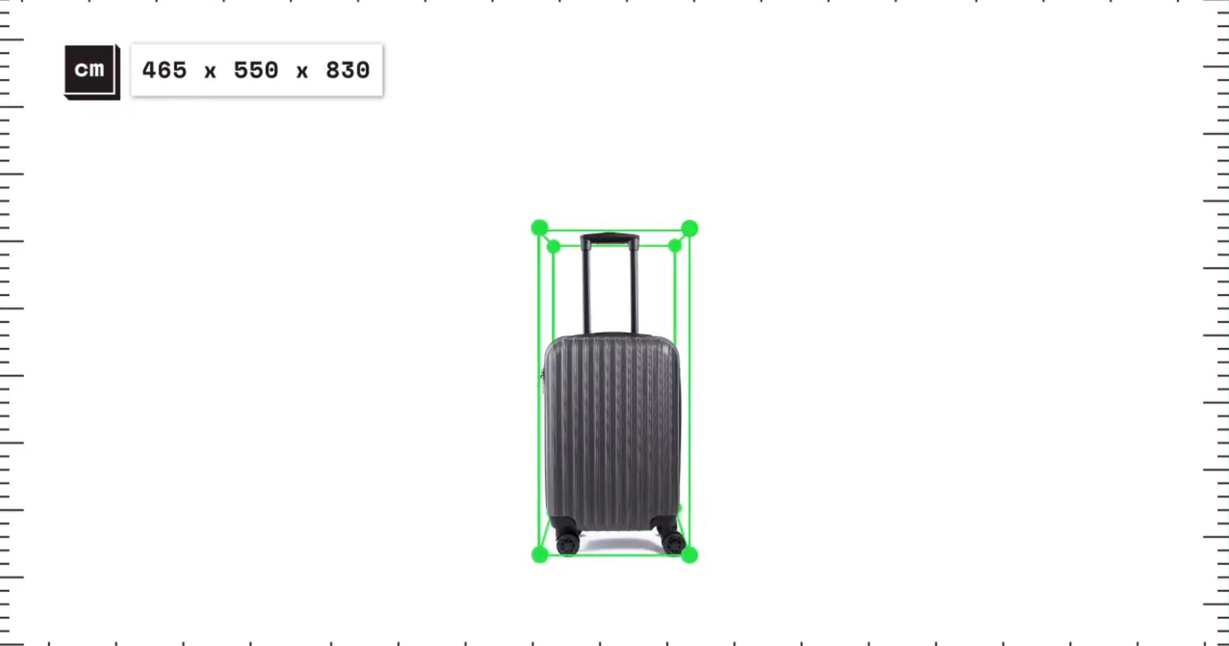 Mesurer la valise avec Google