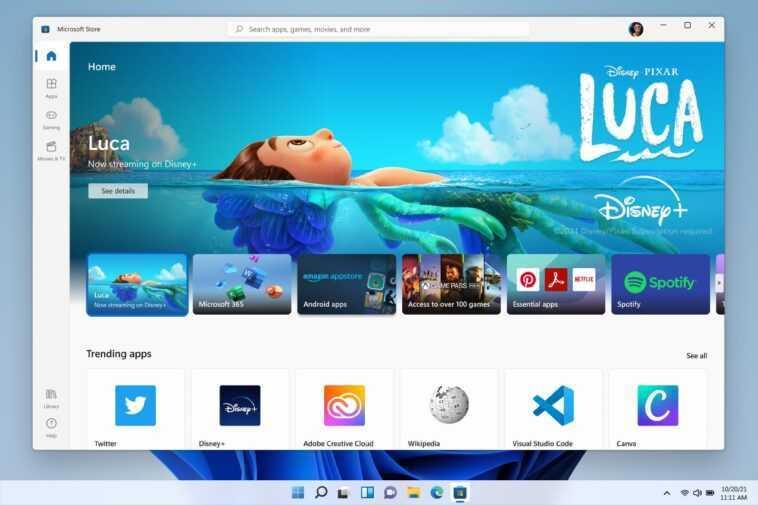 Le nouveau Microsoft Store de Windows 11 arrive sur Windows 10