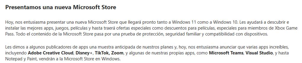 Microsoft parle du Microsoft Store