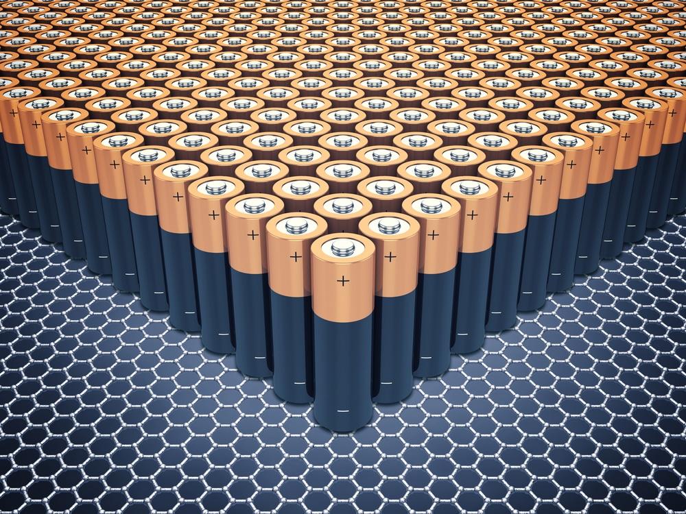 L'image montre plusieurs butins pour illustrer la puissance des supercondensateurs à base de graphène