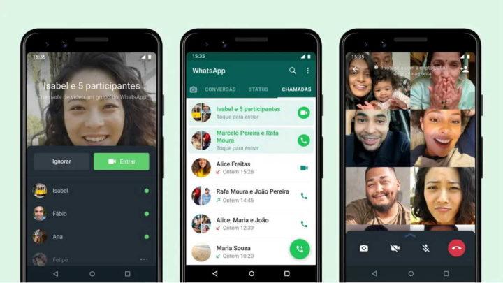 WhatsApp appelle les nouvelles du groupe