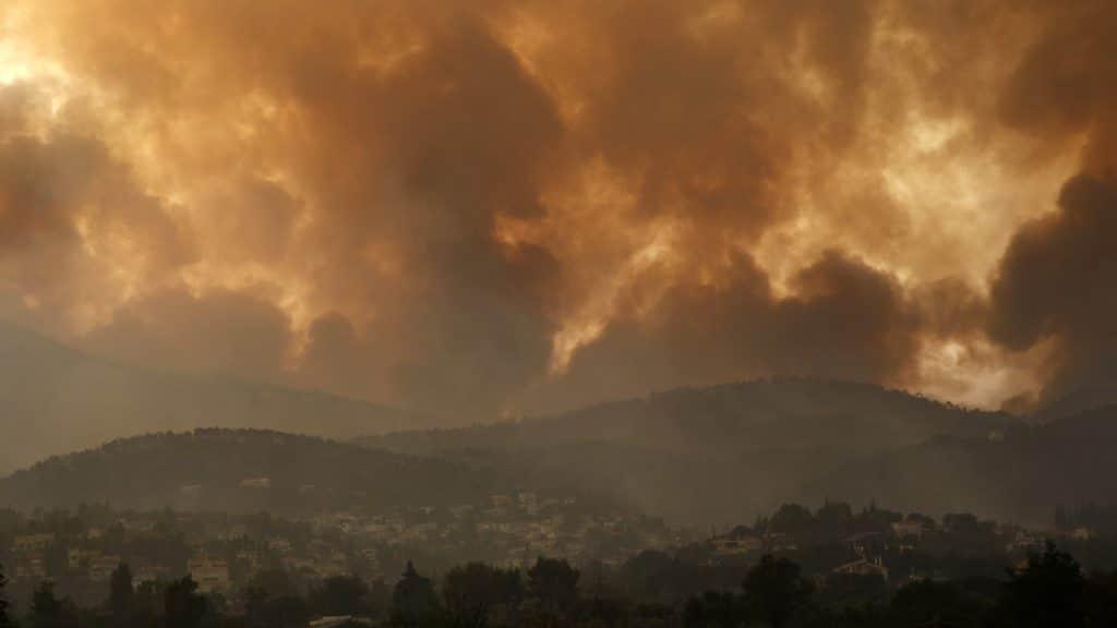 Incendie en Grèce favorisé par l'avancée du changement climatique