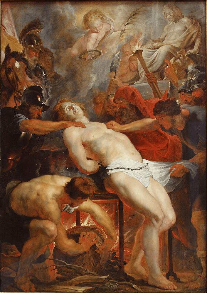 Peinture « Le martyre de São Lourenço » de Peter Paul Rubens