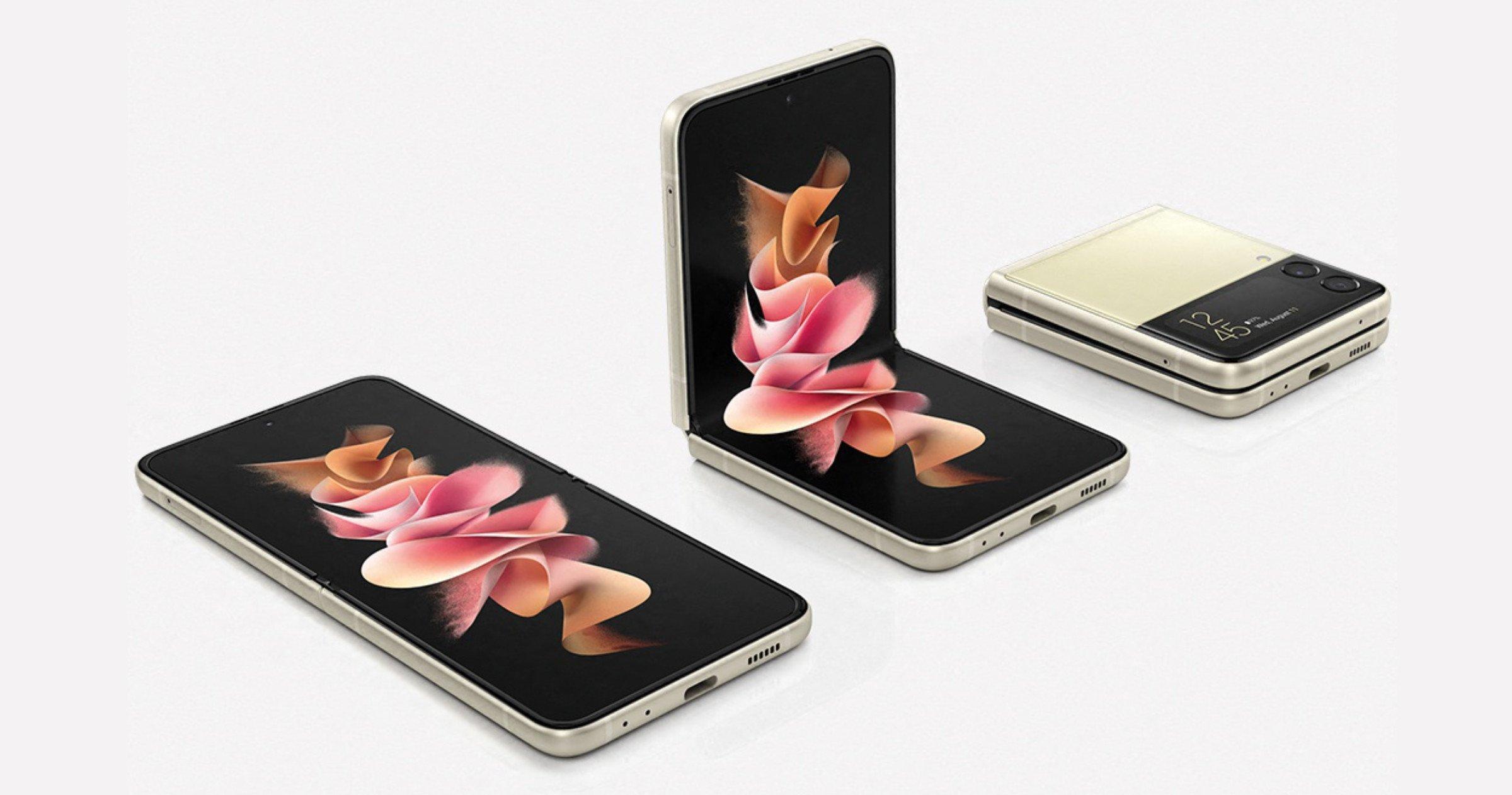 Samsung Galaxy Z Flip 3 doré