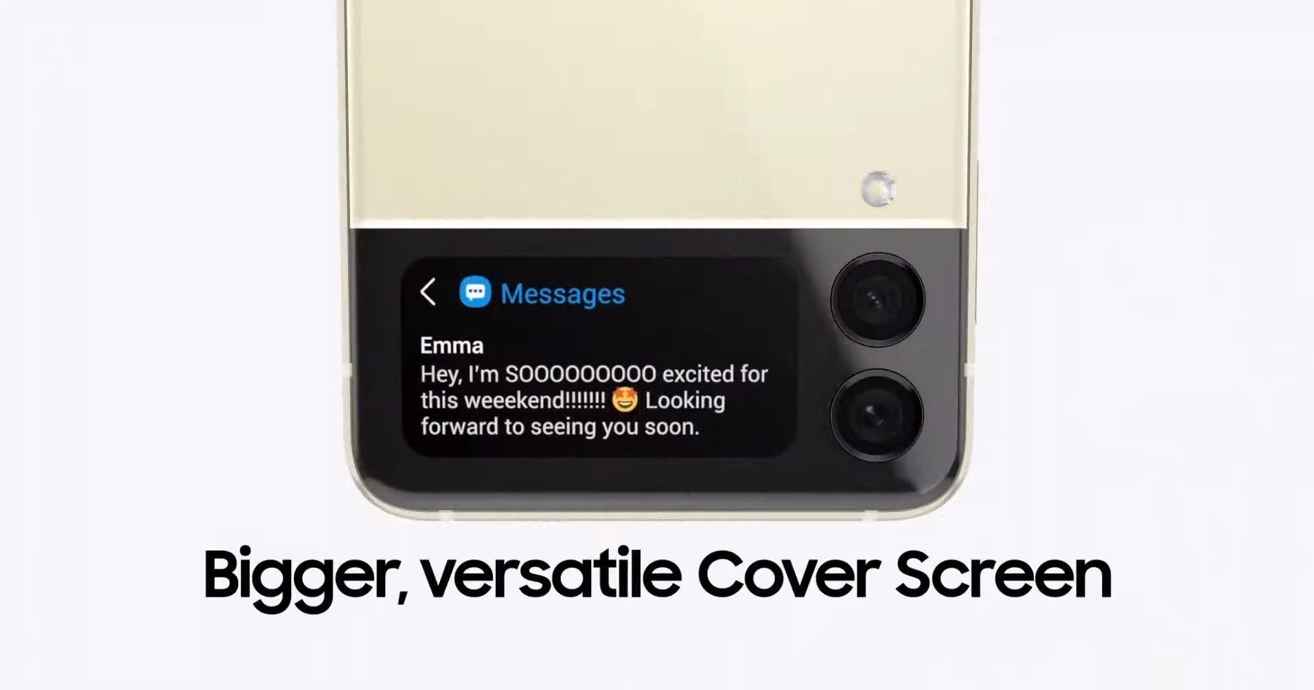 L'écran extérieur du Galaxy Z Flip3