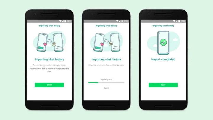 Messages de transfert WhatsApp Android iOS